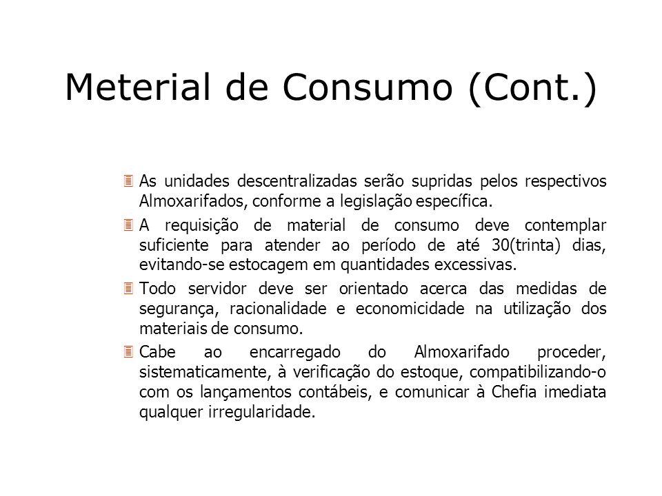 Meterial de Consumo (Cont.)