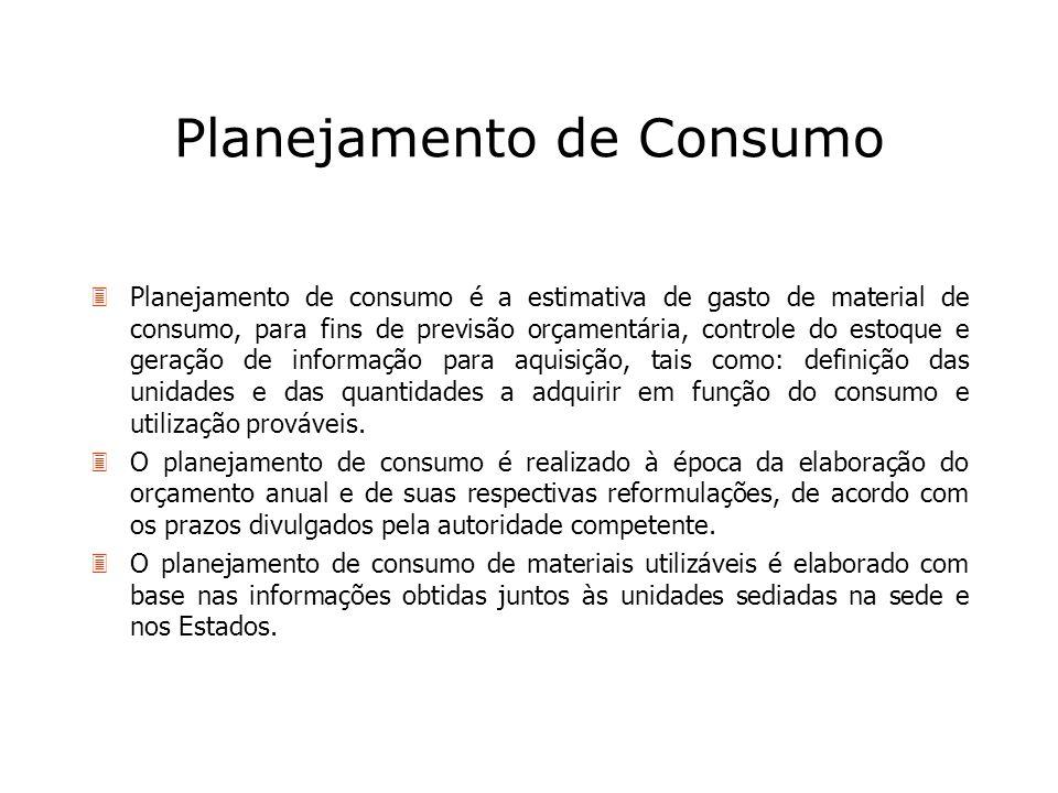 Planejamento de Consumo