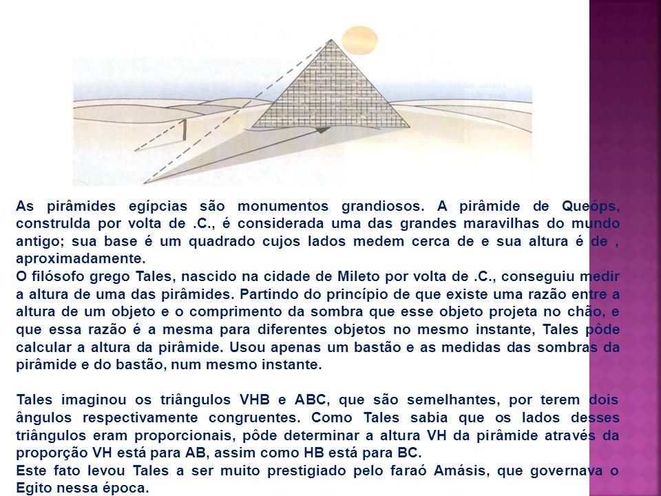 As pirâmides egípcias são monumentos grandiosos