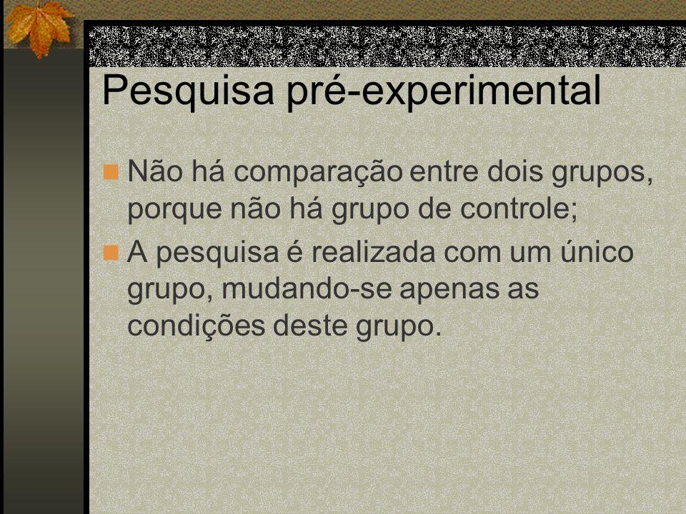 Pesquisa pré-experimental