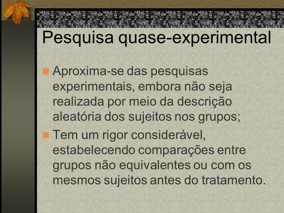 Pesquisa quase-experimental