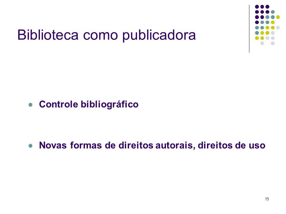 Biblioteca como publicadora