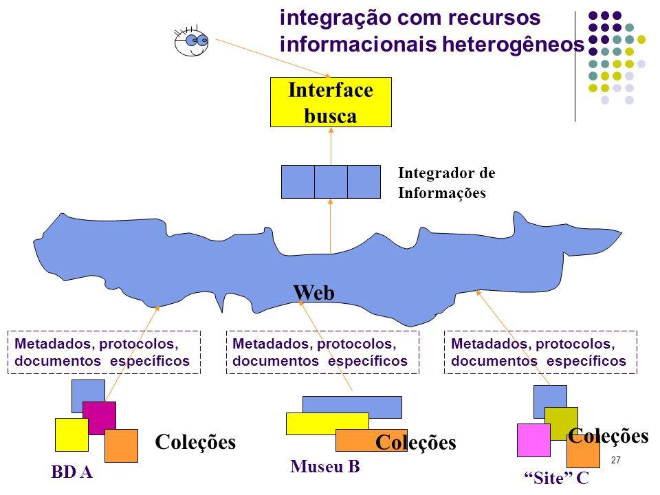 integração com recursos informacionais heterogêneos