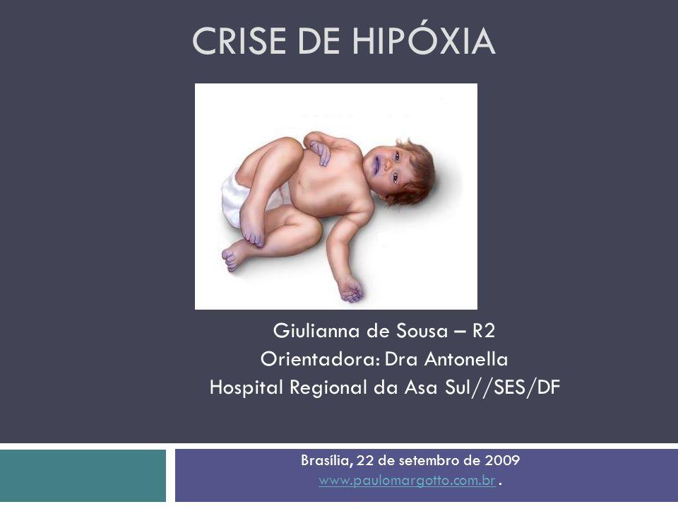 Crise de Hipóxia Giulianna de Sousa – R2 Orientadora: Dra Antonella