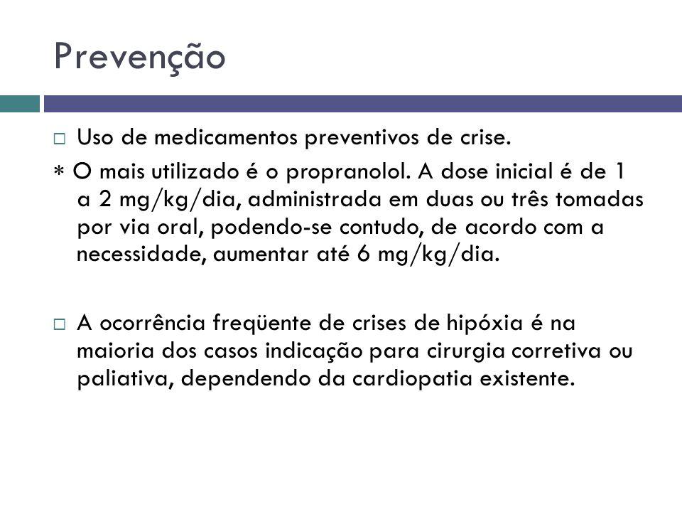 Prevenção Uso de medicamentos preventivos de crise.