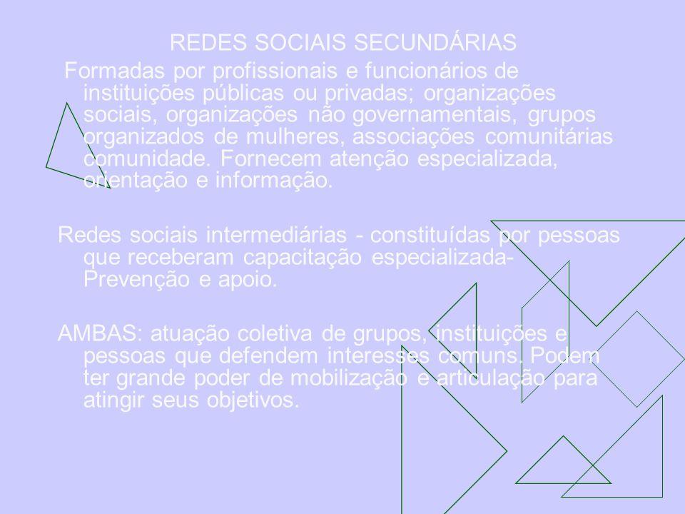 REDES SOCIAIS SECUNDÁRIAS