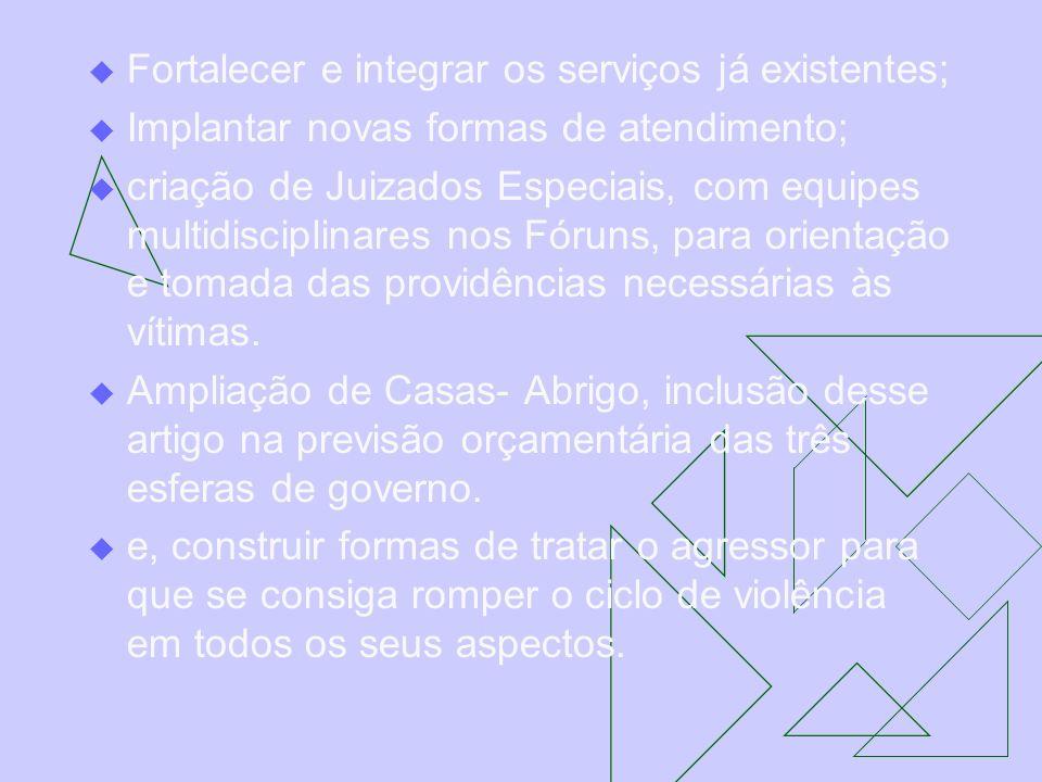 Fortalecer e integrar os serviços já existentes;