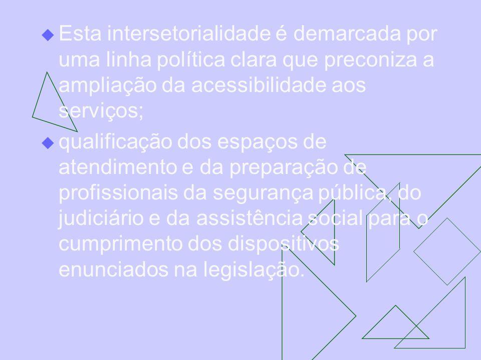 Esta intersetorialidade é demarcada por uma linha política clara que preconiza a ampliação da acessibilidade aos serviços;