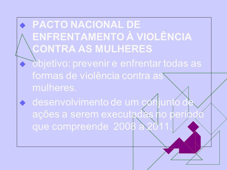 PACTO NACIONAL DE ENFRENTAMENTO À VIOLÊNCIA CONTRA AS MULHERES