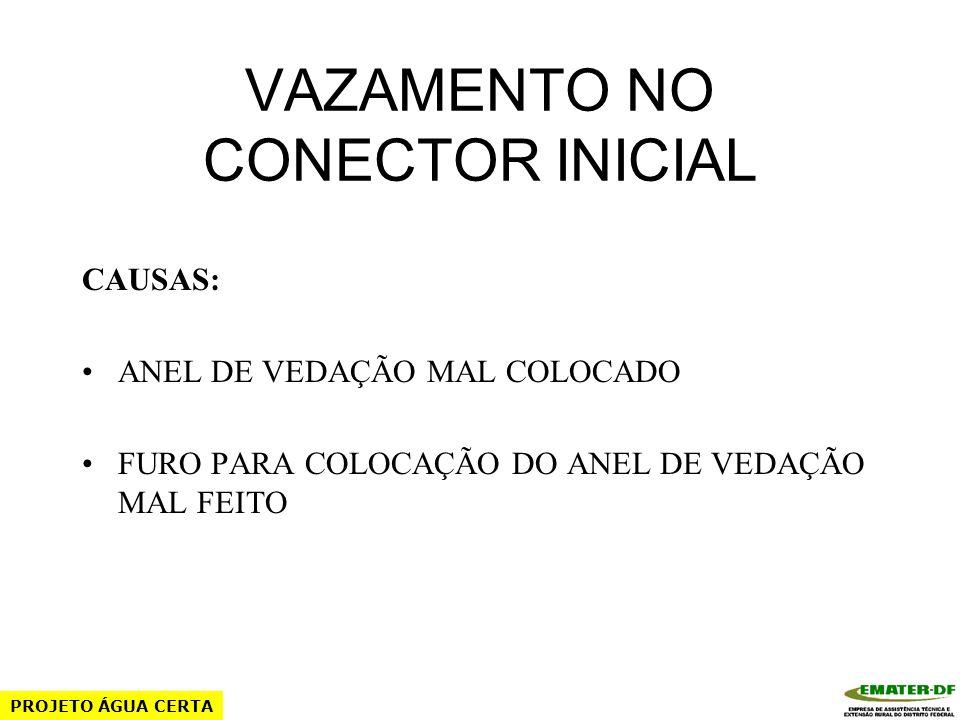 VAZAMENTO NO CONECTOR INICIAL