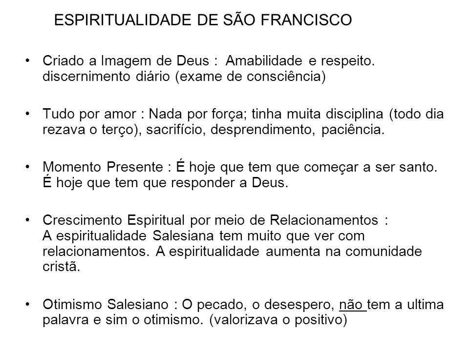 ESPIRITUALIDADE DE SÃO FRANCISCO