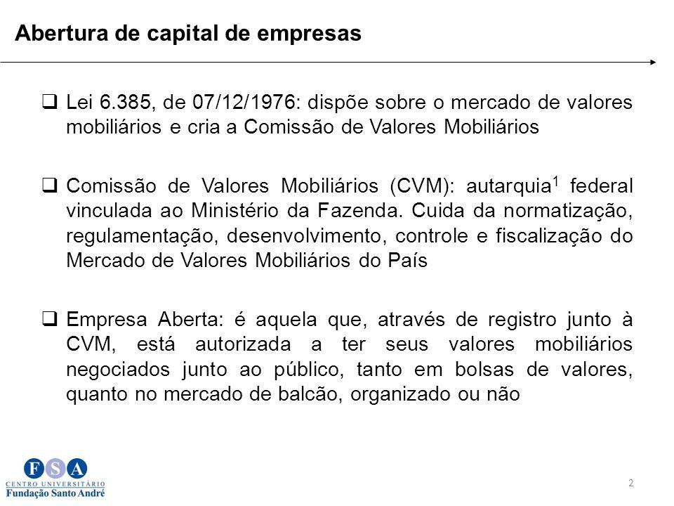 Abertura de capital de empresas