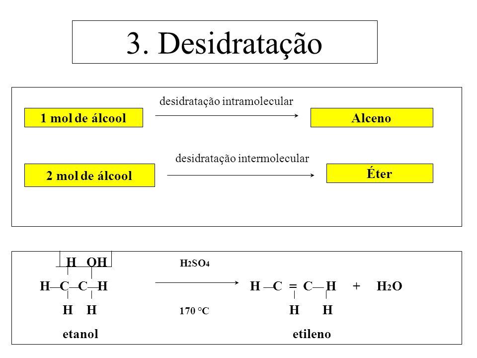 3. Desidratação desidratação intramolecular
