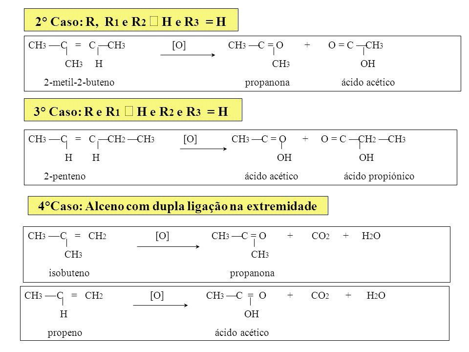 4°Caso: Alceno com dupla ligação na extremidade