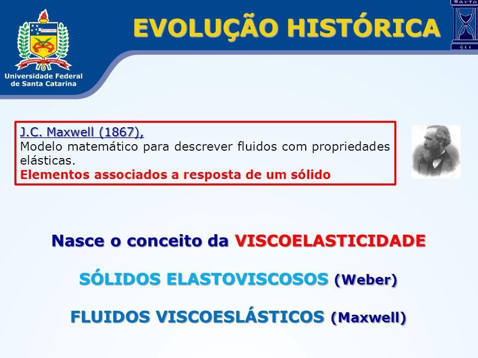 EVOLUÇÃO HISTÓRICA Nasce o conceito da VISCOELASTICIDADE