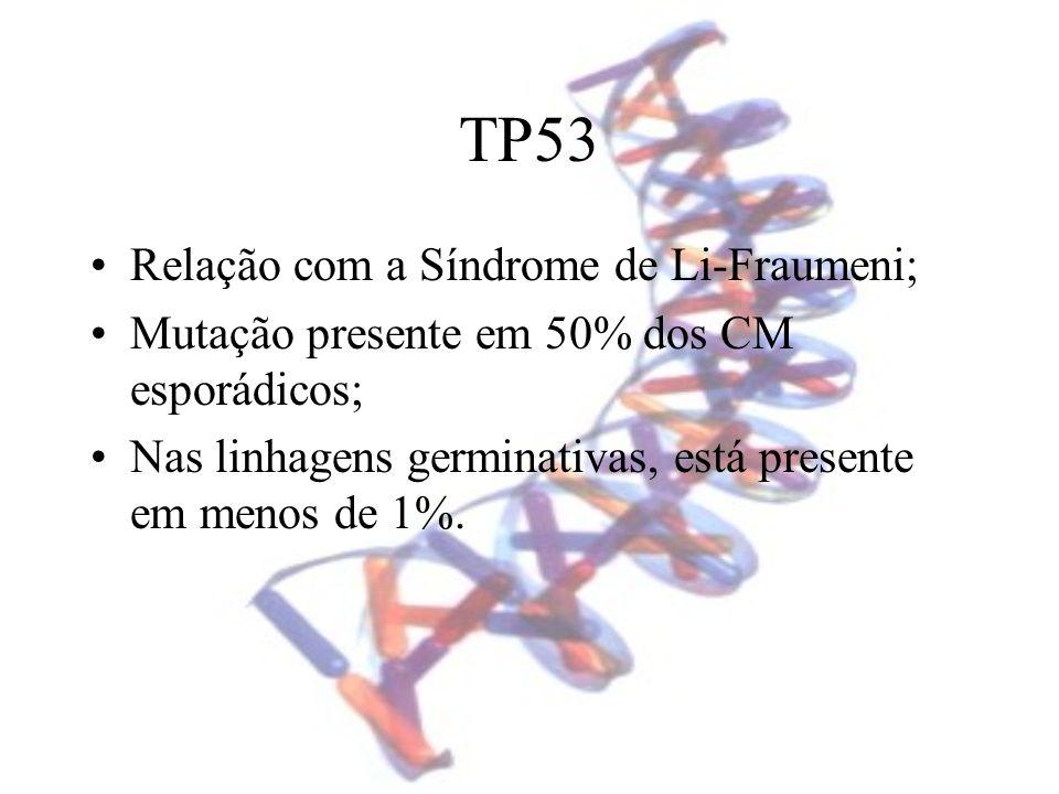 TP53 Relação com a Síndrome de Li-Fraumeni;