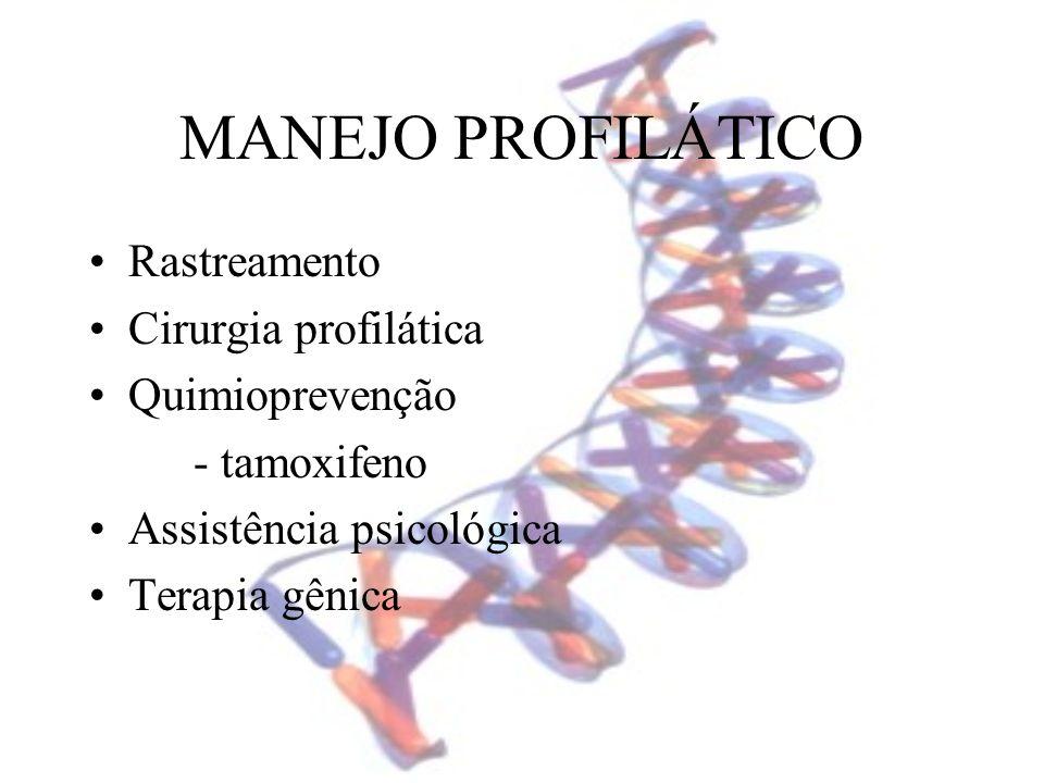 MANEJO PROFILÁTICO Rastreamento Cirurgia profilática Quimioprevenção