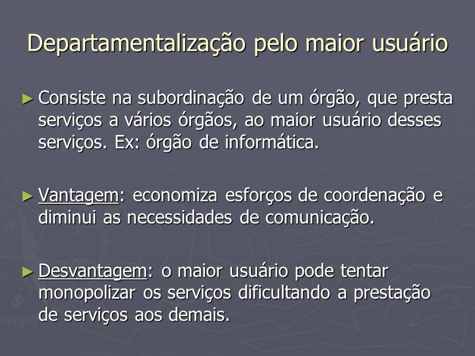 Departamentalização pelo maior usuário