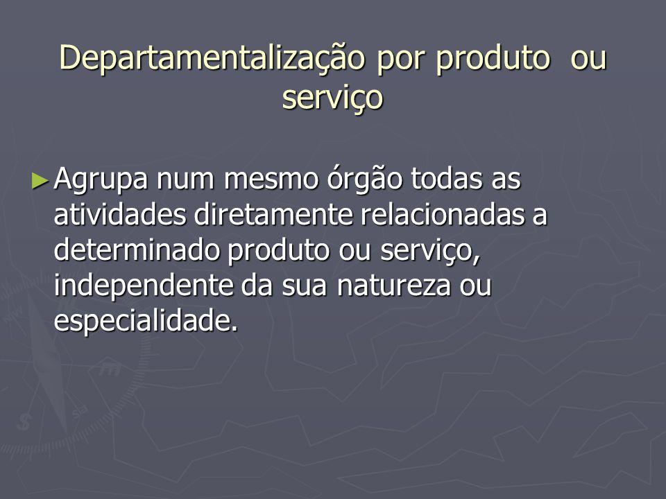 Departamentalização por produto ou serviço
