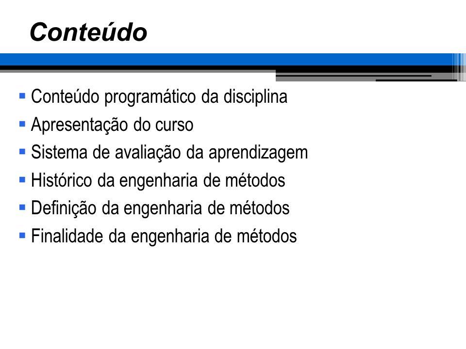 Conteúdo Conteúdo programático da disciplina Apresentação do curso