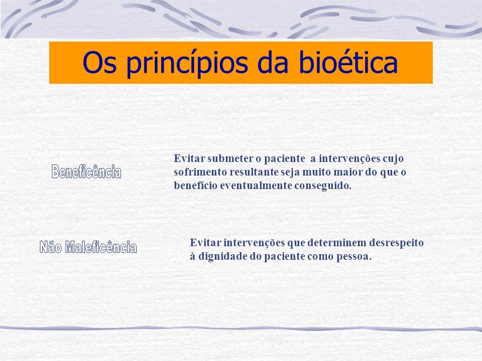 Os princípios da bioética