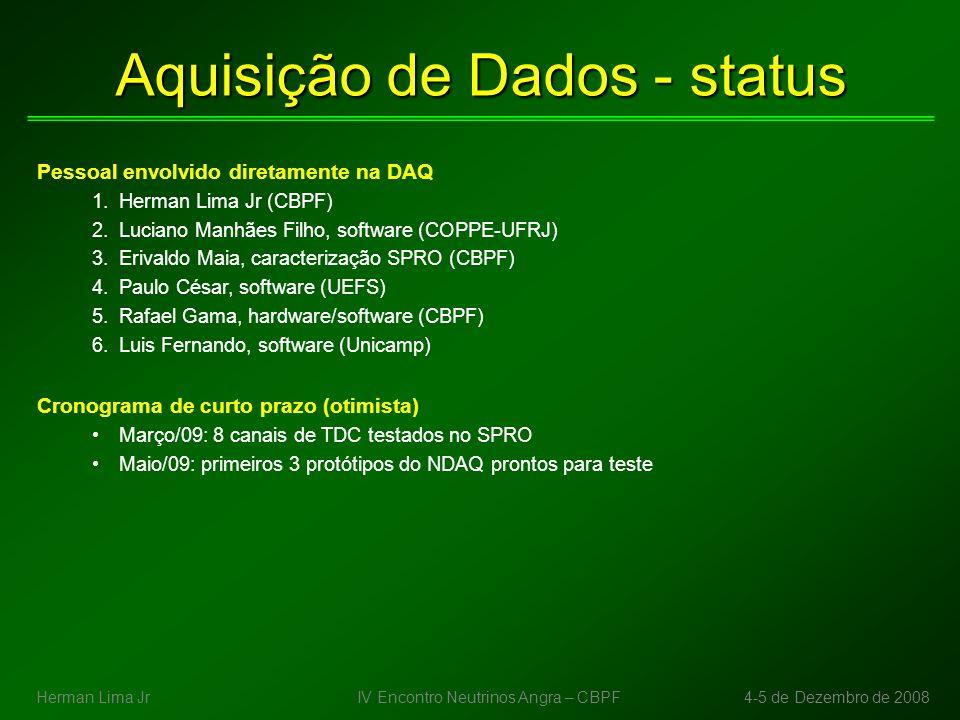 Aquisição de Dados - status