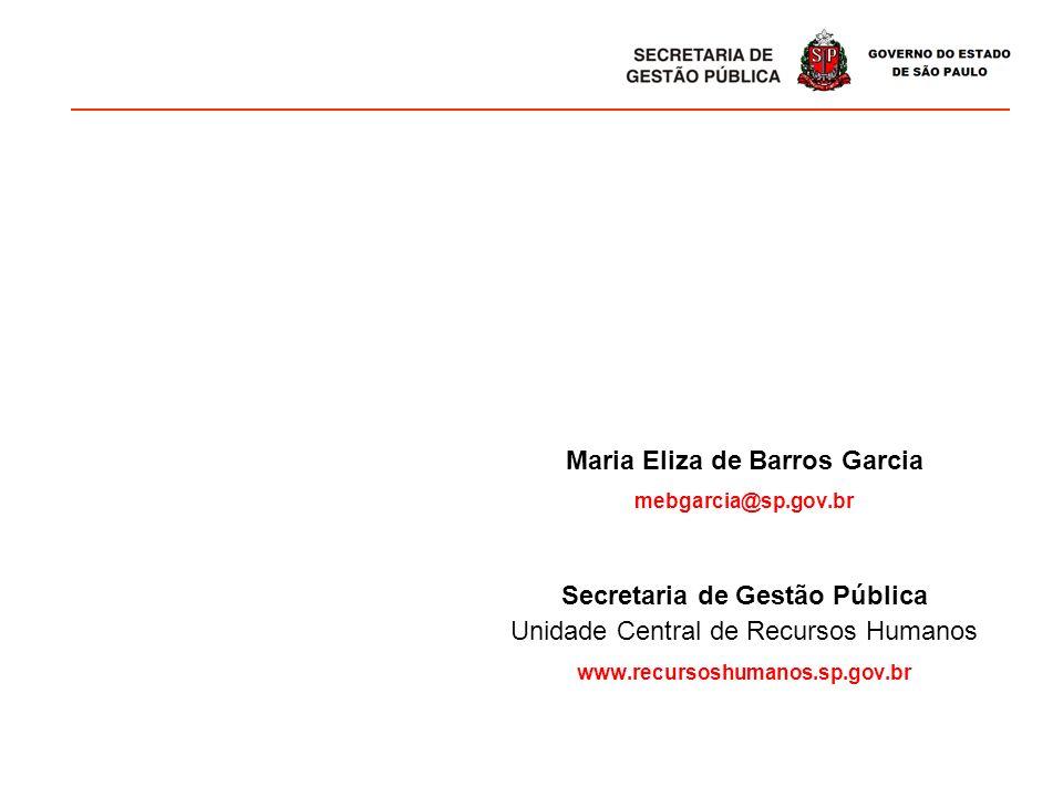 Maria Eliza de Barros Garcia Secretaria de Gestão Pública