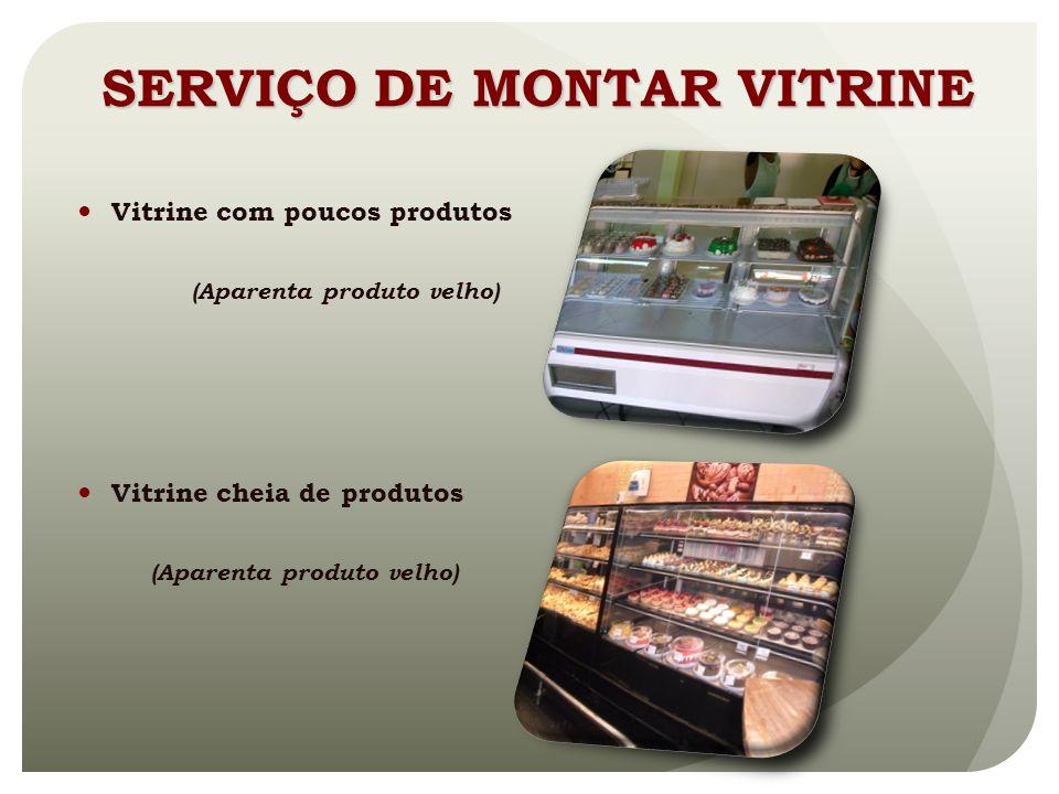 SERVIÇO DE MONTAR VITRINE