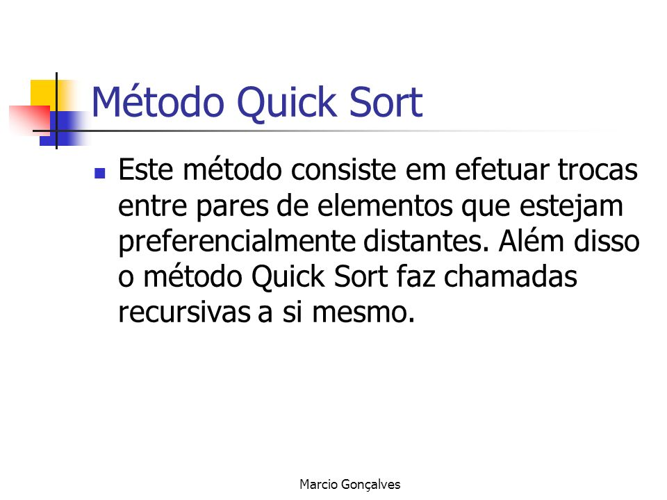 Método Quick Sort