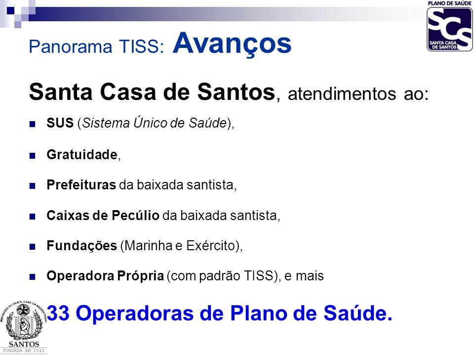 Santa Casa de Santos, atendimentos ao:
