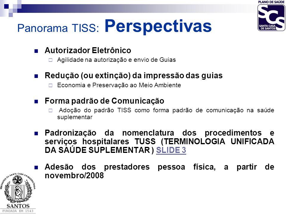Panorama TISS: Perspectivas