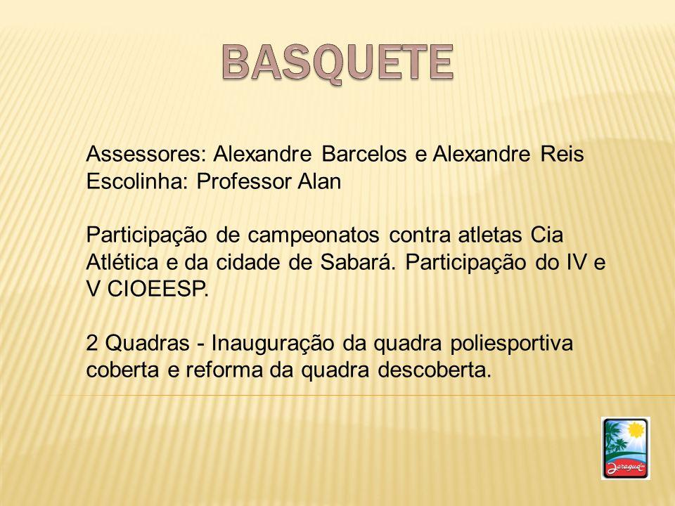 BASQUETE Assessores: Alexandre Barcelos e Alexandre Reis