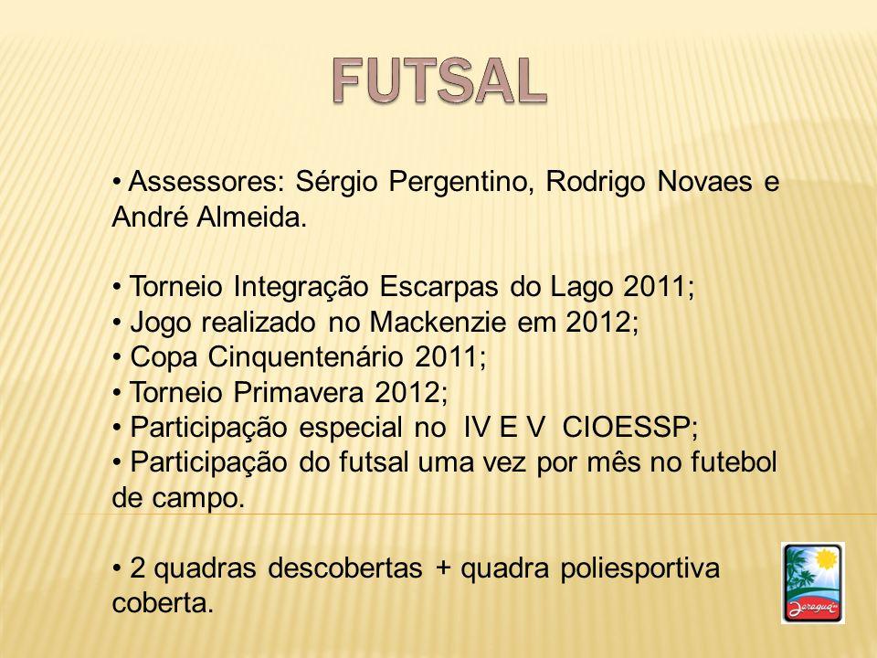 FUTSAL Assessores: Sérgio Pergentino, Rodrigo Novaes e André Almeida.