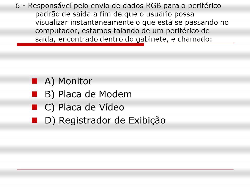 D) Registrador de Exibição