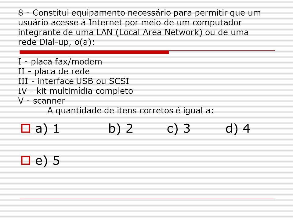 a) 1 b) 2 c) 3 d) 4 e) 5.