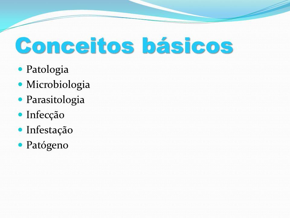 Conceitos básicos Patologia Microbiologia Parasitologia Infecção