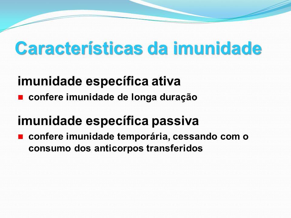 Características da imunidade