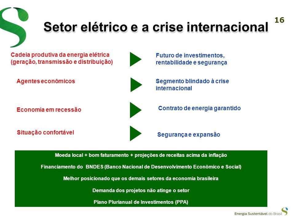 Setor elétrico e a crise internacional