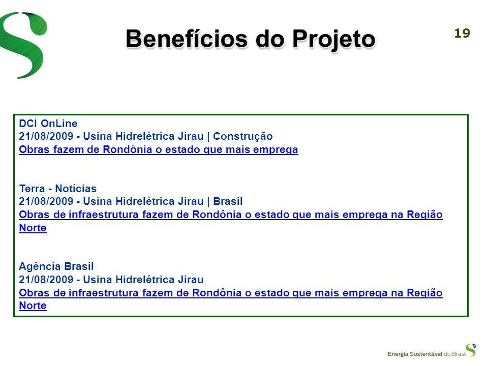 Benefícios do Projeto DCI OnLine