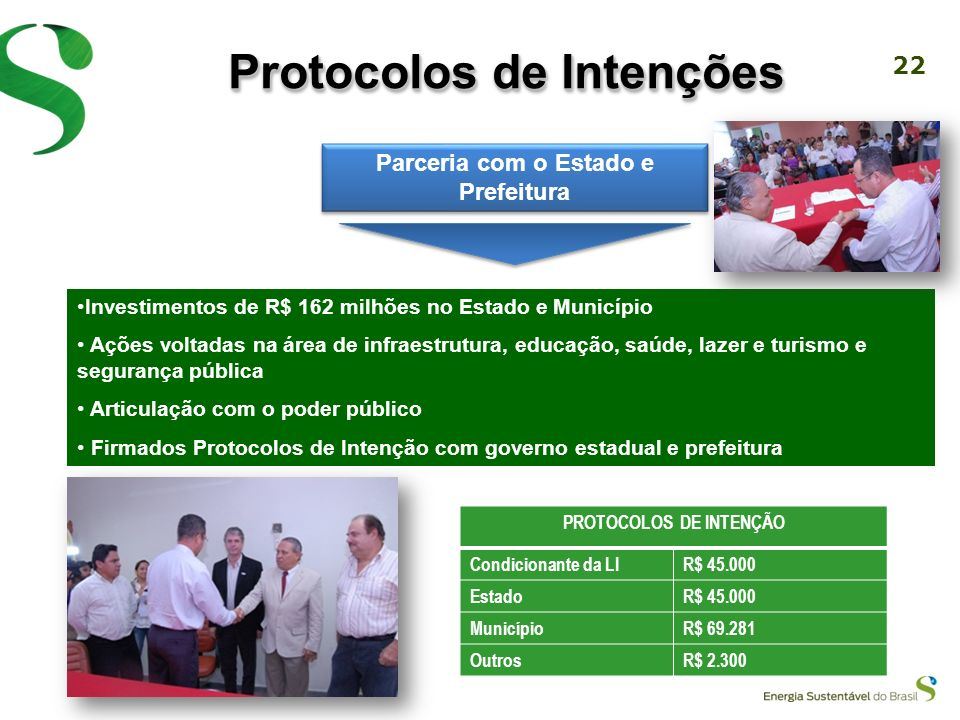 Protocolos de Intenções