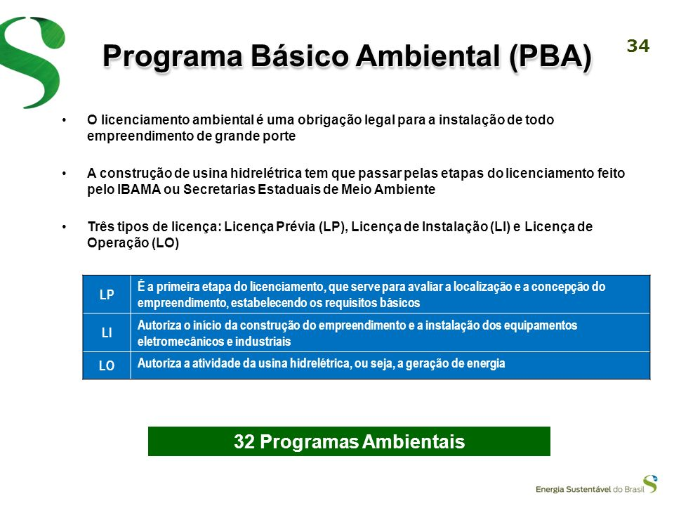 Programa Básico Ambiental (PBA)