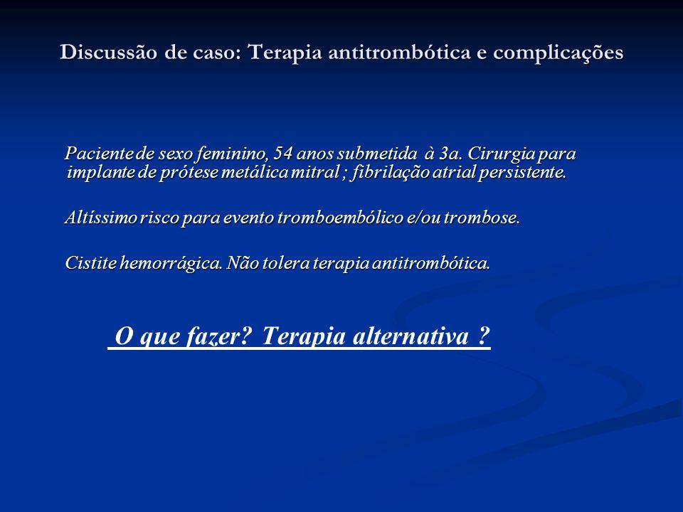 Discussão de caso: Terapia antitrombótica e complicações