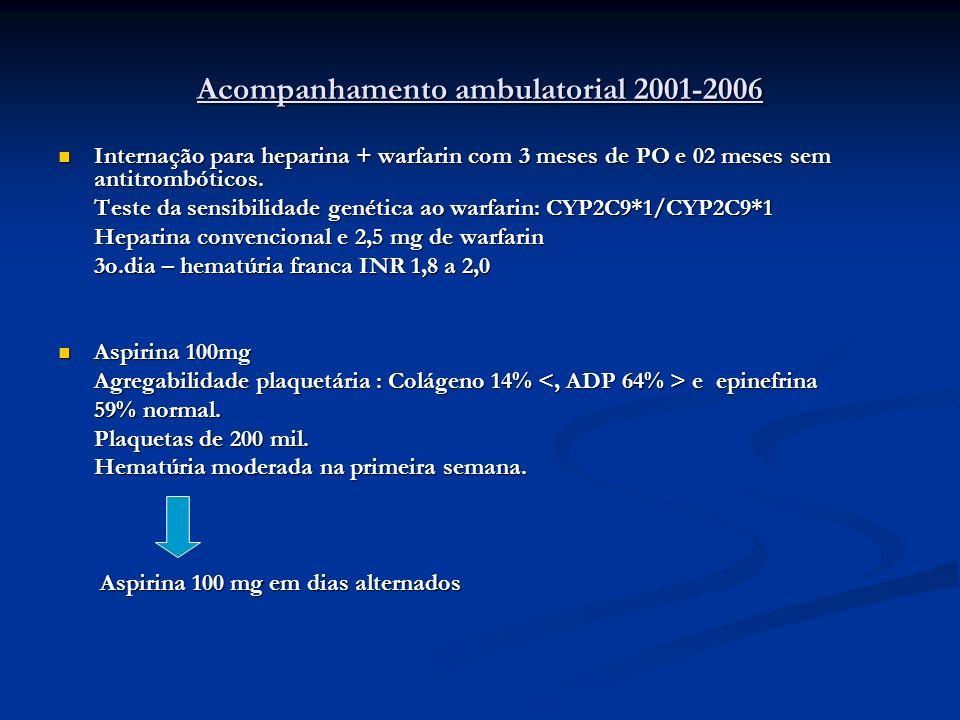 Acompanhamento ambulatorial 2001-2006