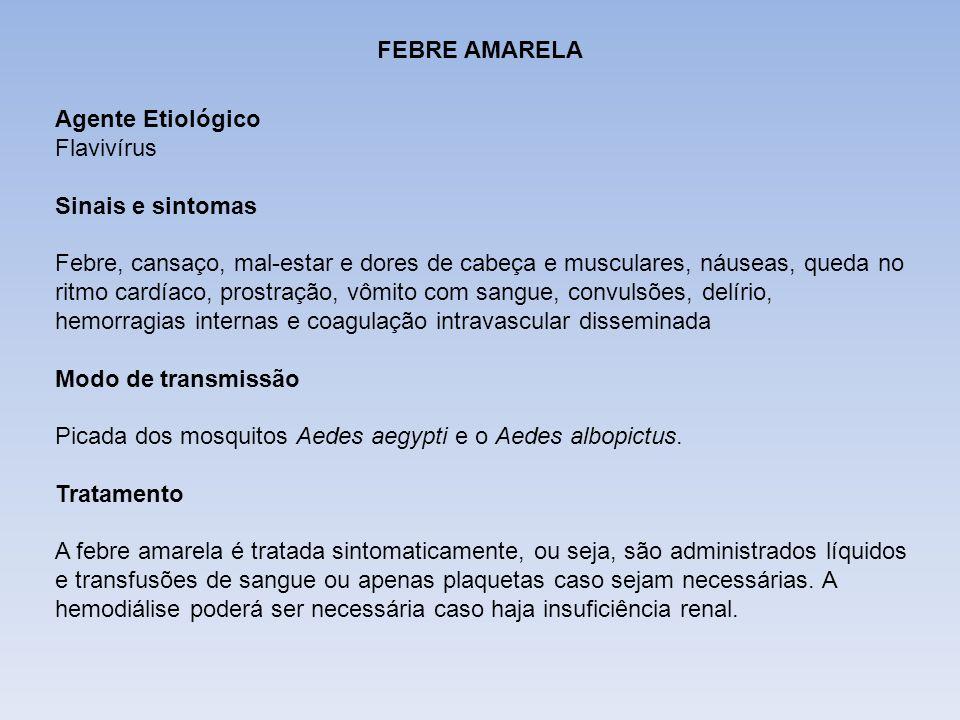 DIFTERIAFEBRE AMARELA. Agente Etiológico. Flavivírus. Sinais e sintomas.