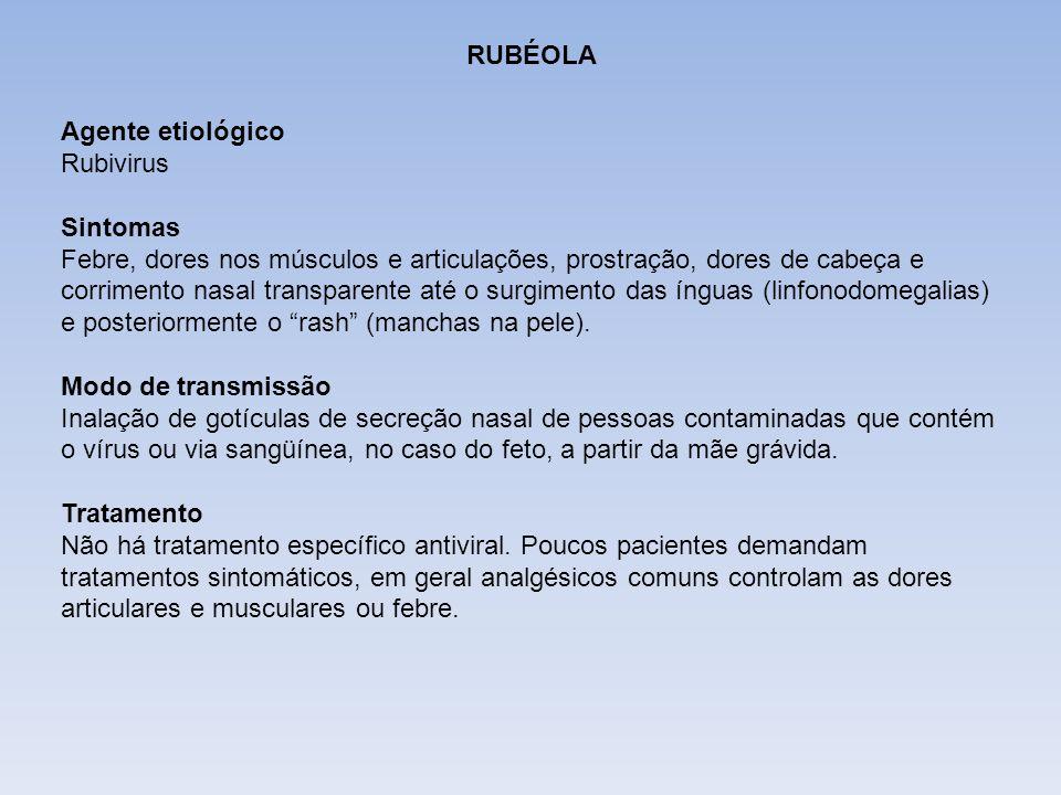 DIFTERIARUBÉOLA. Agente etiológico Rubivirus. Sintomas.