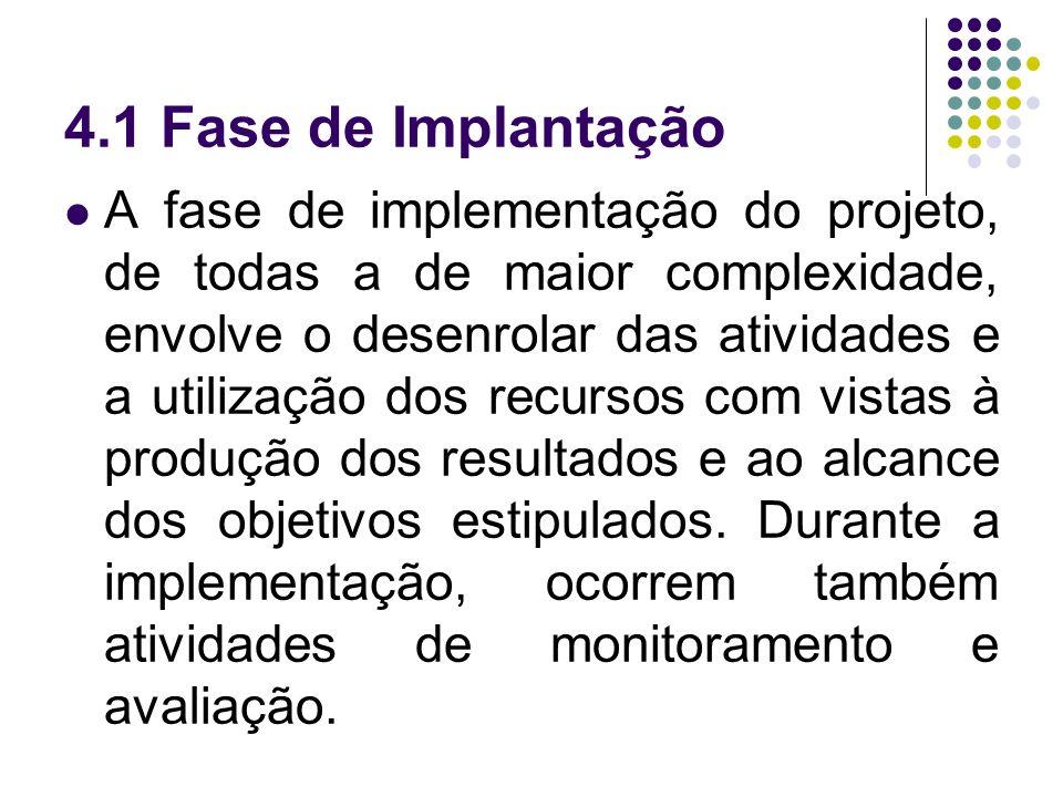 4.1 Fase de Implantação