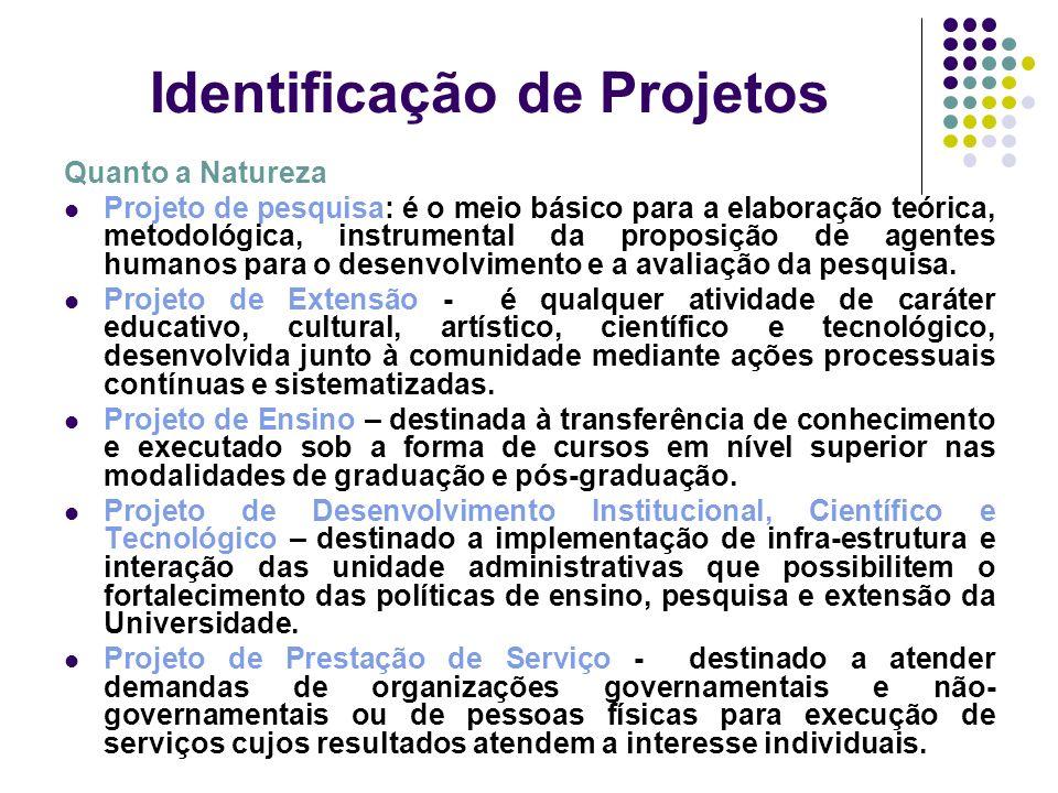 Identificação de Projetos