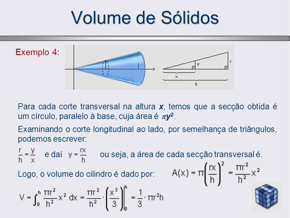 Volume de Sólidos Exemplo 4: