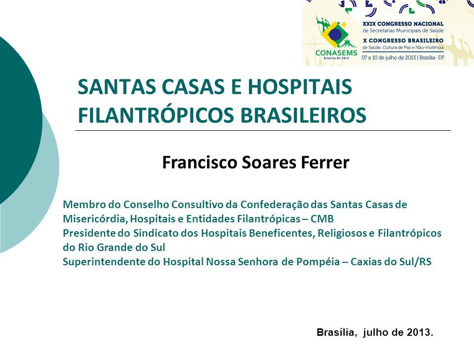 SANTAS CASAS E HOSPITAIS FILANTRÓPICOS BRASILEIROS