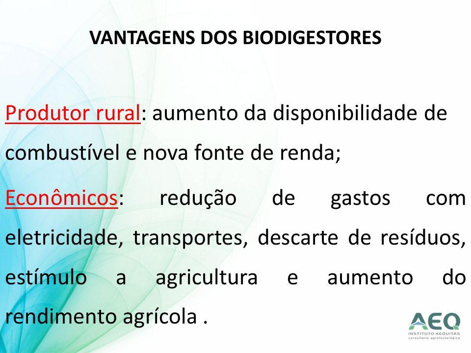 VANTAGENS DOS BIODIGESTORES